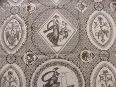 画像1: 「即納F」布:Casal古代の光景(3:チョコレート)長さ50cm単位 /130g (1)