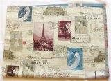 「即納F」はぎれ70x50:パリ博・1889(ジャカード、ベージュベース)/ 150g