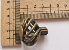 画像2: 「即納F」取っ手:カージュ径35mm(アンティークゴールド)/45g (2)