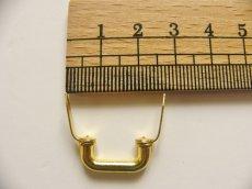 画像3: 「即納F」つまみ金具:凹型差し込み式19mm(ゴールド)/15g (3)
