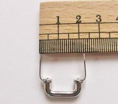 画像2: 「即納J」つまみ金具:凹型差し込み式金具19mm(シルバー)/15g (2)