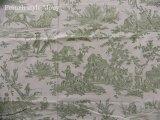 「取寄せ」布:復刻版tdj四季の喜び(トワル、白ベースグリーン)長さ50cm単位 /160g