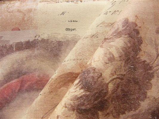 画像4: 「即納F」布:南仏の貴婦人(麻色べース) /320g