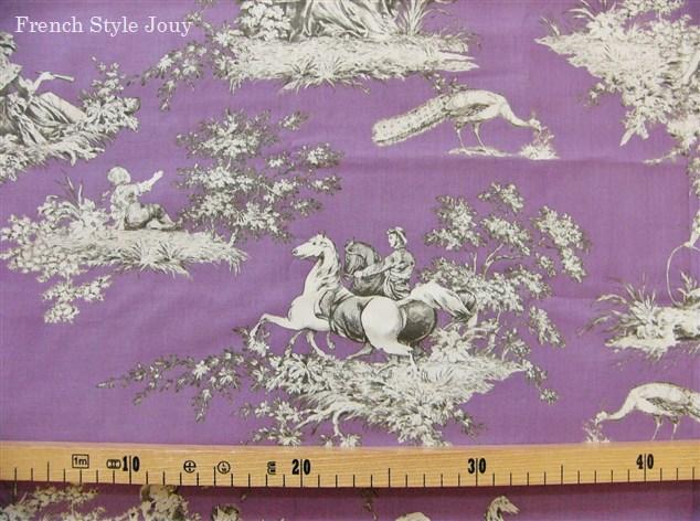 画像2: 「即納F」はぎれ72x50:ギッターマンtdjフレンチコテージ(紫ベース) /65g