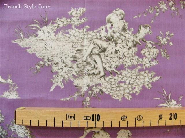 画像3: 「即納F」はぎれ72x50:ギッターマンtdjフレンチコテージ(紫ベース) /65g