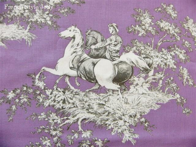 画像4: 「即納F」はぎれ72x50:ギッターマンtdjフレンチコテージ(紫ベース) /65g