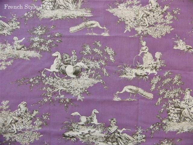 画像5: 「即納F」はぎれ72x50:ギッターマンtdjフレンチコテージ(紫ベース) /65g