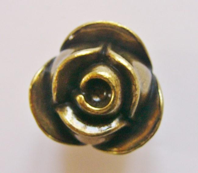 画像1: 「即納F」取っ手:ブルジェオン径3.3cm(アンティークゴールド)/110g (1)