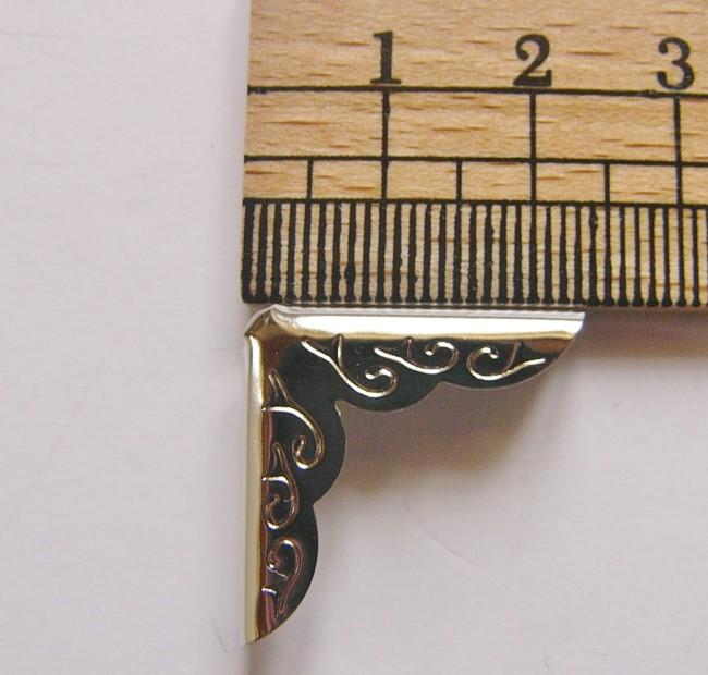 画像4: 「即納F」角飾り金具シルバー22mm×22mm 4個セット/20g