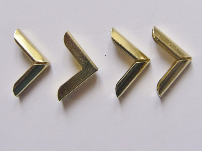 画像1: 「即納F」角金具ゴールド15mm×15mm 4個セット/10g