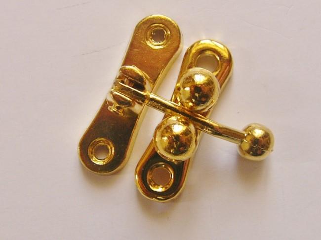 画像1: 「即納F」 留め金具31x33mmゴールド/25g