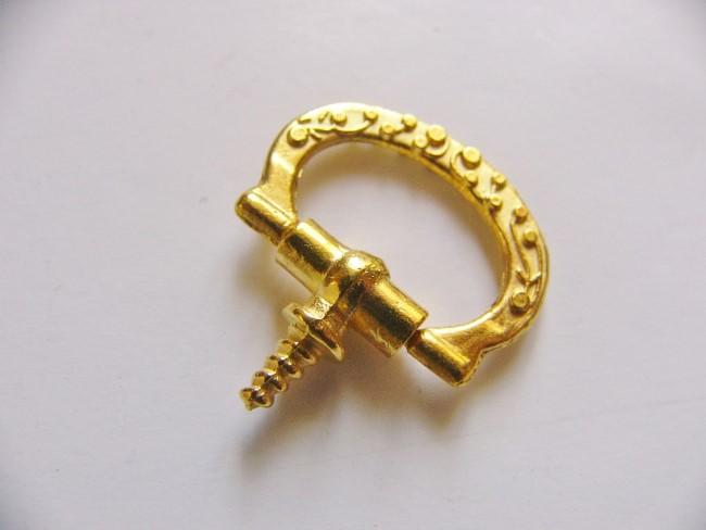 画像2: 「即納F」つまみ金具:差し込みねじ型2.2cmx1.5cm(ゴールド)/20g
