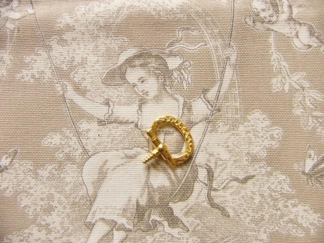画像4: 「即納F」つまみ金具:差し込みねじ型2.2cmx1.5cm(ゴールド)/20g