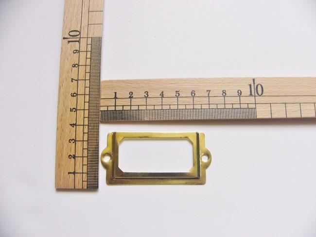 画像3: 「即納F」ネームプレート70x33mm(ゴールド) /20g