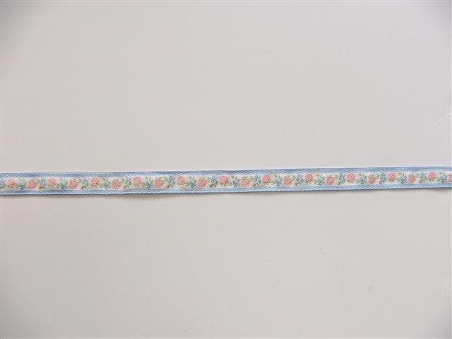 画像4: 「即納F」コットンリボン刺繍ローズ 20mm(水色・ピンク) /12g