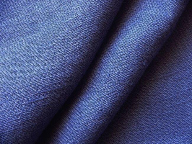 画像1: 「即納F」はぎれ70×50:ラーヴ(色番89マリンブルー、麻)/ 110g (1)