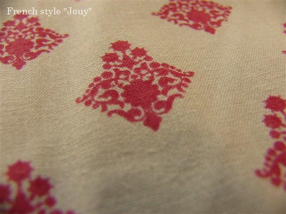 画像2: 「即納F」布:ラトゥナ(ベージュベース赤)長さ50cm単位 /80g
