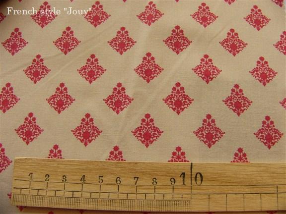 画像4: 「即納F」布:ラトゥナ(ベージュベース赤)長さ50cm単位 /80g