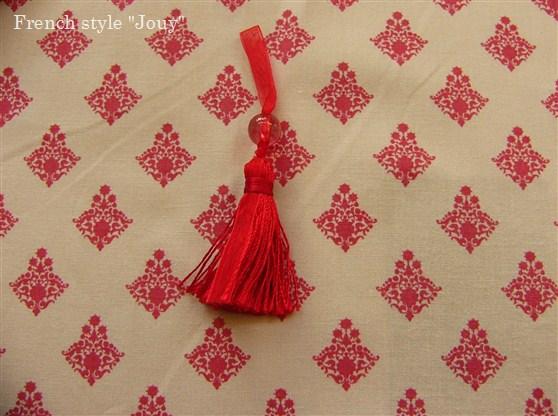 画像5: 「即納F」布:ラトゥナ(ベージュベース赤)長さ50cm単位 /80g