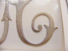 画像3: 「J即納」廃盤AD刺繍飾り:アーベーセデール・リス9×9(トープ) (3)