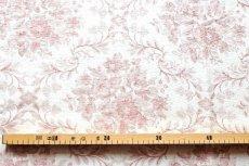 画像3: 「J即納」はぎれ83x50:フローラルダマスク・リュスティック(麻混,クリームベースボルドー) /145g (3)