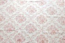 画像1: 「J即納」はぎれ83x50:フローラルダマスク・リュスティック(麻混,クリームベースボルドー) /145g (1)