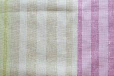 画像4: 「F在庫」はぎれ68×50:バーリントン(ストライプ、濃いピンク・グリーン) (4)