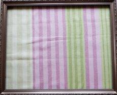 画像2: 「F在庫」はぎれ68×50:バーリントン(ストライプ、濃いピンク・グリーン) (2)