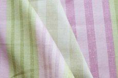 画像15: 「F在庫」はぎれ68×50:バーリントン(ストライプ、濃いピンク・グリーン) (15)
