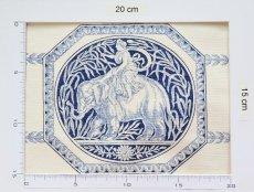 画像6: 「即納F」はぎれ75x50:Casal狩人の女神ディアナ(16:ブルー) /80g (6)
