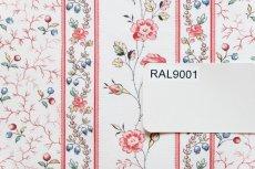 画像16: 「即納F」はぎれ73x50:シャルロット(ホワイトベース赤・ブルー)/80g (16)