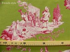 画像8: 「即納J」はぎれ75x50:Casal夏の楽しみ(32:グリーンベースピンク) /80g (8)