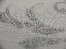 画像7: 「即納J」はぎれ80x50:カリグラフィー(ホワイト・シルバー) /80g (7)