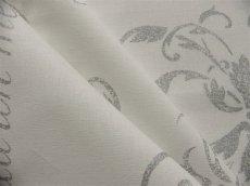 画像3: 「即納J」はぎれ80x50:カリグラフィー(ホワイト・シルバー) /80g (3)