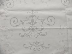 画像10: 「即納J」はぎれ80x50:カリグラフィー(ホワイト・シルバー) /80g (10)