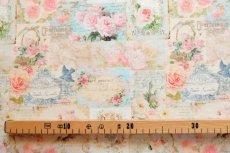 画像4: 「即納J」はぎれ70×50:プティット・カルト・ド・ローズ(ベビーピンク、小柄) / 75g (4)