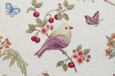 画像11: 「即納F」はぎれ70x50:ゴブラン織りプランタン(ベージュベース小鳥)/ 165g (11)