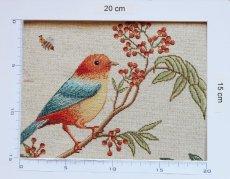 画像3: 「即納F」はぎれ70x50:ゴブラン織りプランタン(ベージュベース小鳥)/ 165g (3)