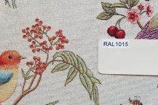 画像6: 「即納F」はぎれ70x50:ゴブラン織りプランタン(ベージュベース小鳥)/ 165g (6)