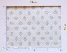 画像4: 「J即納/F在庫」はぎれ75x50:メディシス(ジャカード、グレイ) /130g (4)
