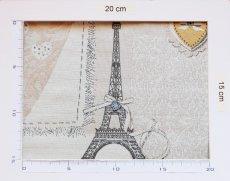 画像3: 「即納F」はぎれ70x50:リボンデコレーション・パリ(ジャカード、ベージュベースグレイ、ピンク)/140g (3)