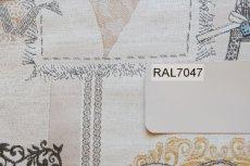 画像4: 「即納F」はぎれ70x50:リボンデコレーション・パリ(ジャカード、ベージュベースグレイ、ピンク)/140g (4)