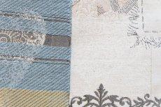 画像8: 「即納F」はぎれ70x50:リボンデコレーション・パリ(ジャカード、ベージュベースグレイ、ピンク)/140g (8)