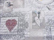 画像9: 「即納F」はぎれ70x50:アイラブユー・ダーナ(ジャカード、グレジュベース)/130g (9)