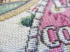 画像4: 「即納F」はぎれ70x50:ゴブラン織りラベル・ボーテ(赤)/170g (4)