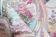 画像11: 「移動中」はぎれ70x50:ゴブラン織りラベル・ボーテ(ピンク)/170g (11)
