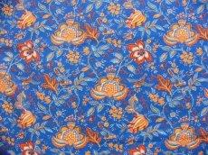 画像1: 「即納J」はぎれ80x50:Valdrome コロンブ(トワルドジュイ風花柄、ブルー)/75g (1)
