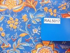 画像12: 「即納J」はぎれ80x50:Valdrome コロンブ(トワルドジュイ風花柄、ブルー)/75g (12)