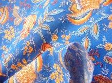 画像6: 「即納J」はぎれ80x50:Valdrome コロンブ(トワルドジュイ風花柄、ブルー)/75g (6)