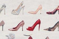 画像15: 「F在庫」はぎれ70×50:ゴブラン織り タロン・エギュイーユ(ライトアイボリーベース) (15)